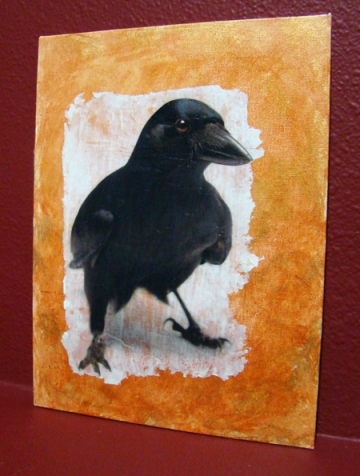 New Caledonian Crow: gel on canvas