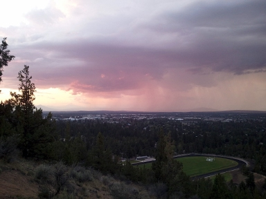 Pilot Butte Thunderstorm Sunset #1