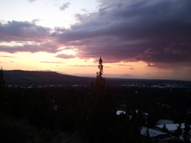 Pilot Butte Thunderstorm Sunset #2